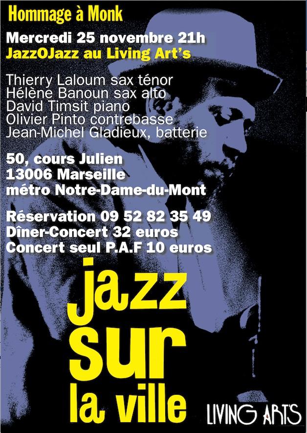 JazzOJazz au Living Art's pour Jazz sur la Ville